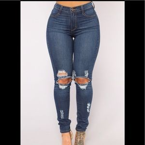 "Fashion Nova ""Back At It Skinny Jeans"""